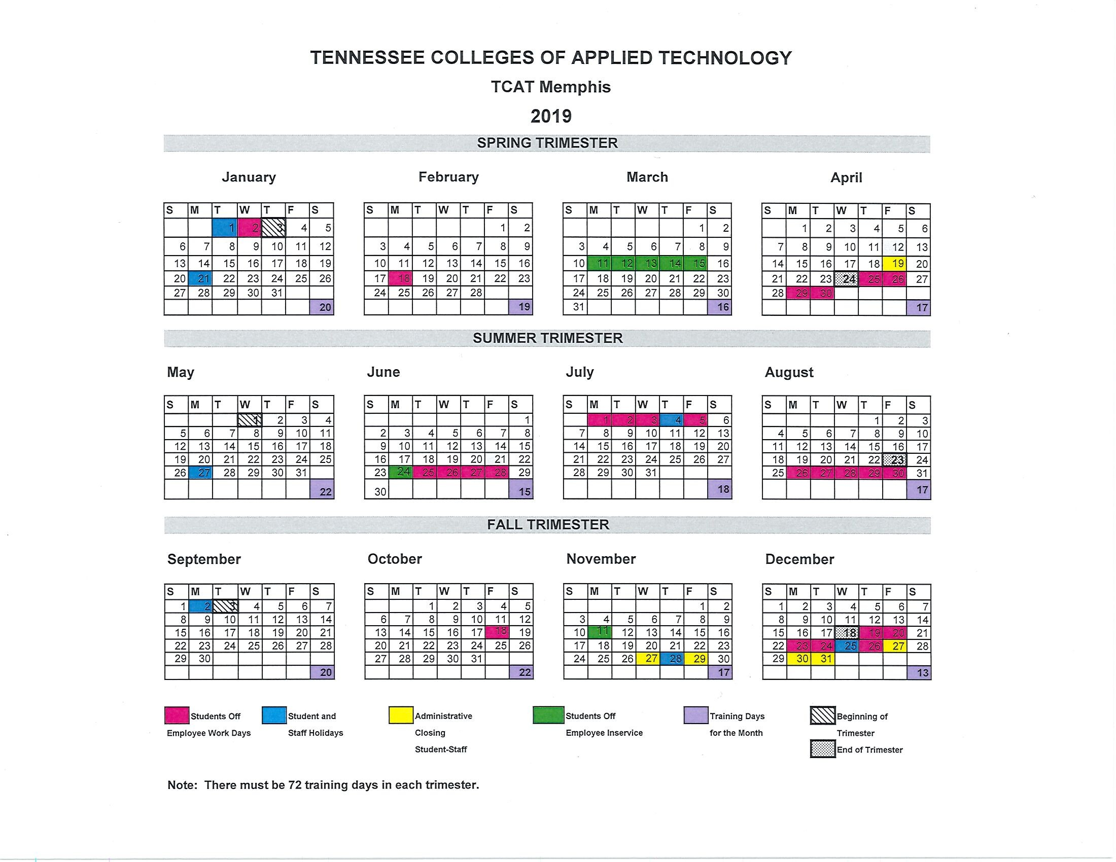 University Of Alabama Academic Calendar.Academic Calendar Tcat Memphis